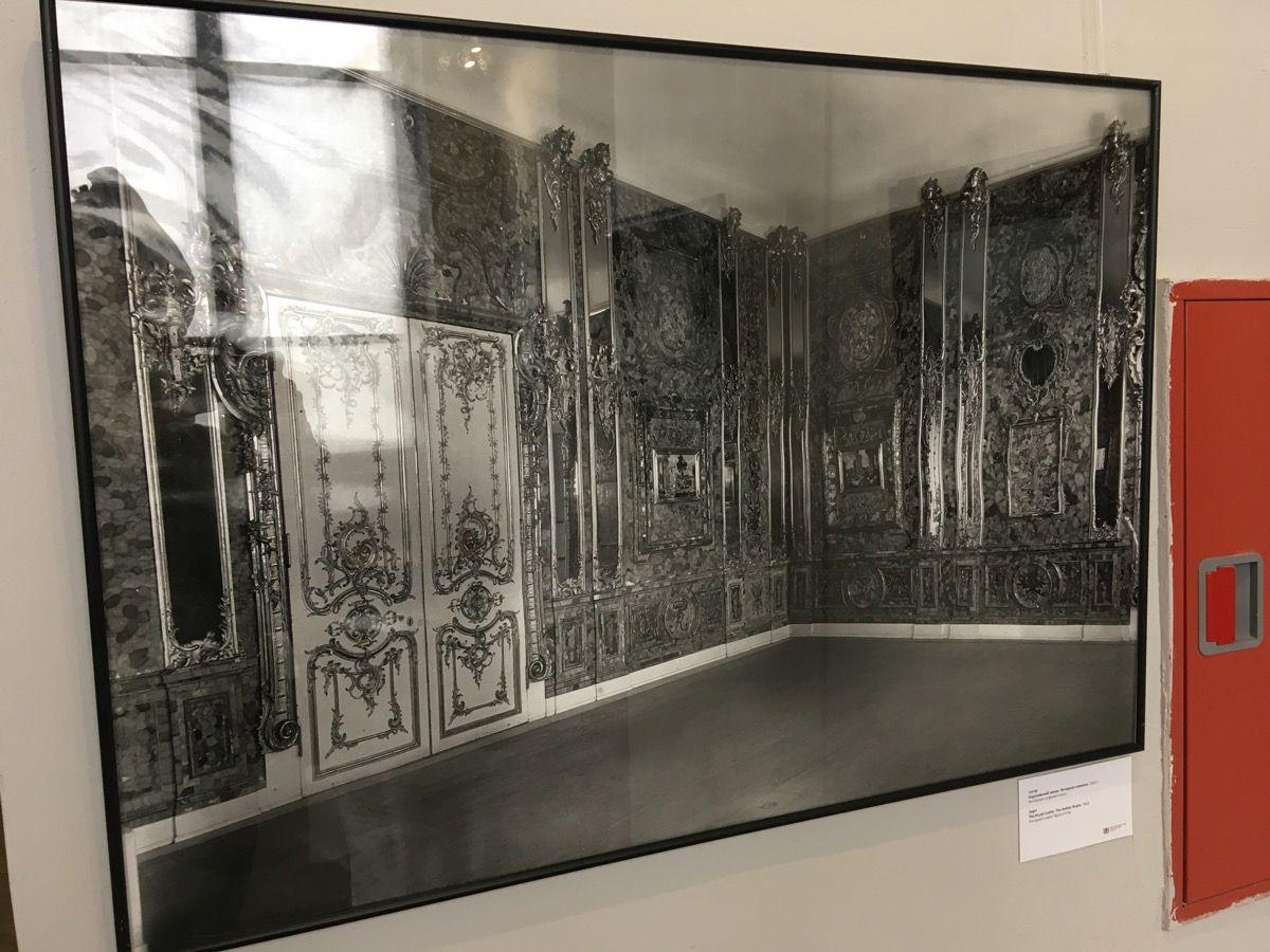 Фото янтарной комнаты в музее