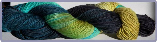Vampira sock Yarn Hand Dyed custom