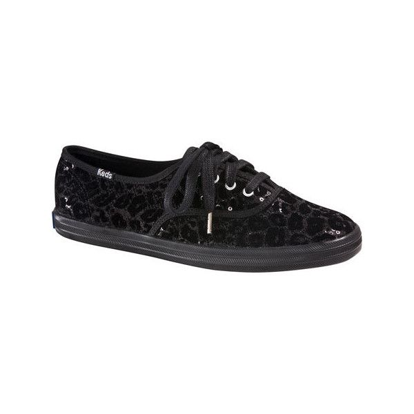 daa7e8e3e05 Women s Keds Champion Leopard Flocked Sequin Sneaker Casual (71 CAD) ❤ liked  on Polyvore