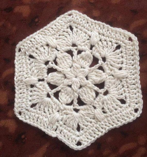 Daphne Crocheted Hexagon Pattern Lupe Pinterest Crochet