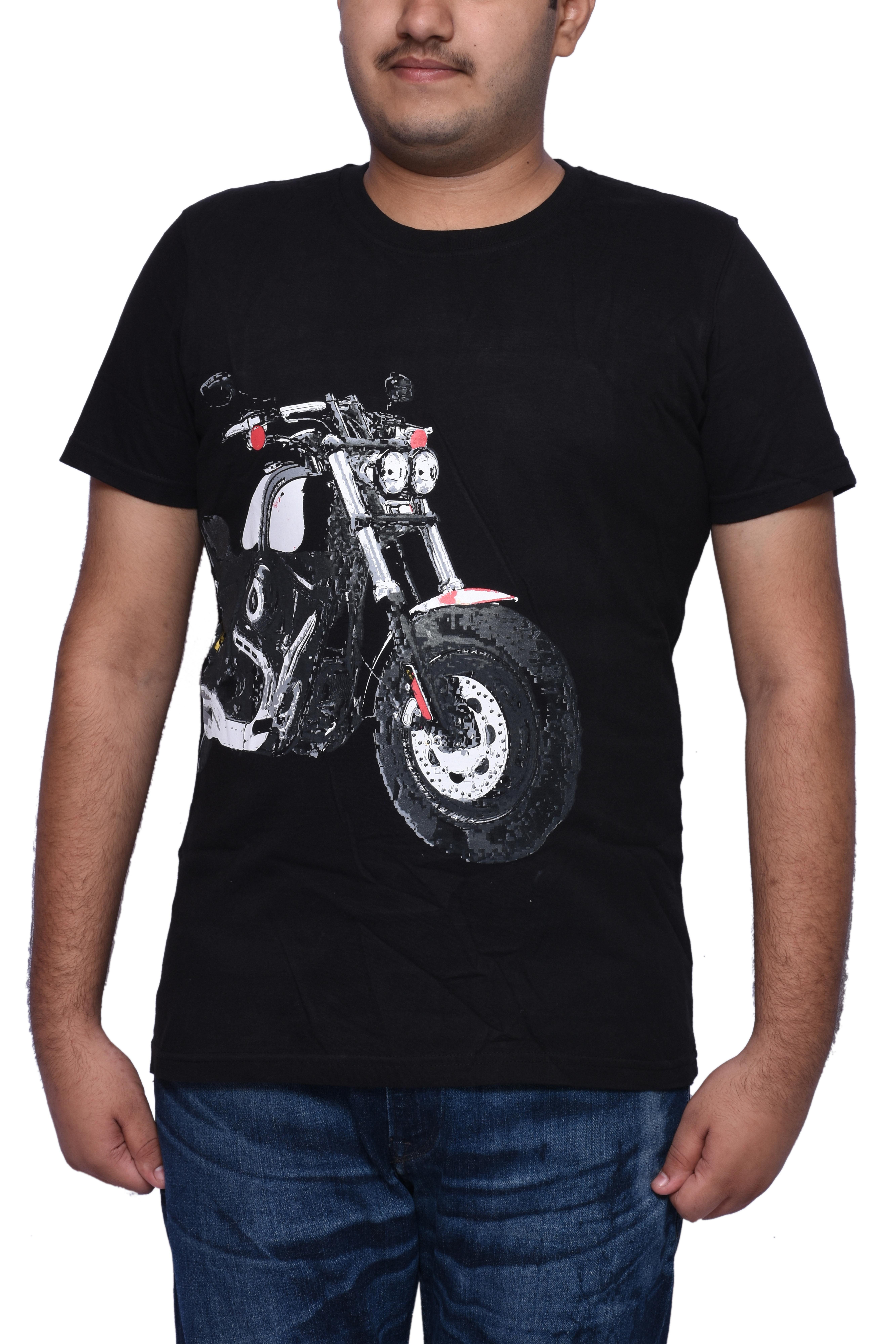 Buy Oneliner Mens Black T Shirt Printed Bike Design Menstshirt