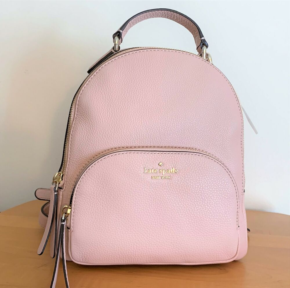 Pink leather backpack Backpack for women Medium backpack Leather bags for women Leather backpack
