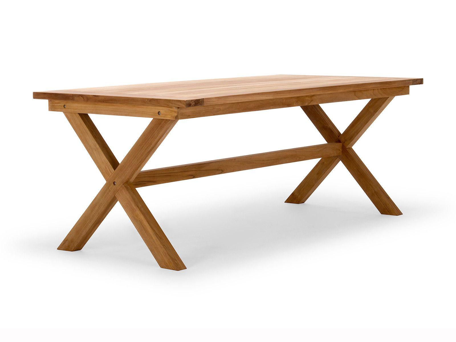 Gartentisch Greenvale 200x100 Teakholz Teak Holz Gartentisch