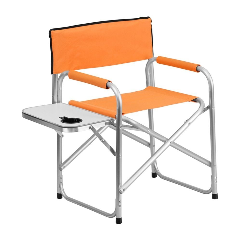 Aluminum folding chair - Offex Aluminum Folding Lightweight Camping Chair With Table And Drink Holder By Offex