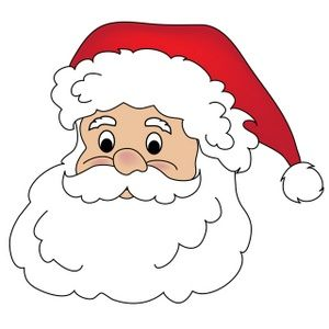 free santa claus clip art image clipart illustration of santa 2 rh pinterest com cartoon santa face clip art santa face clip art black and white