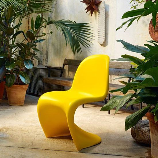 Did You Know The Panton Chair Works Just As Well Outside As It Does In Doors Thanks To Its Use Of Easy To Clean Abs A Panton Chair Vitra Chair Vitra