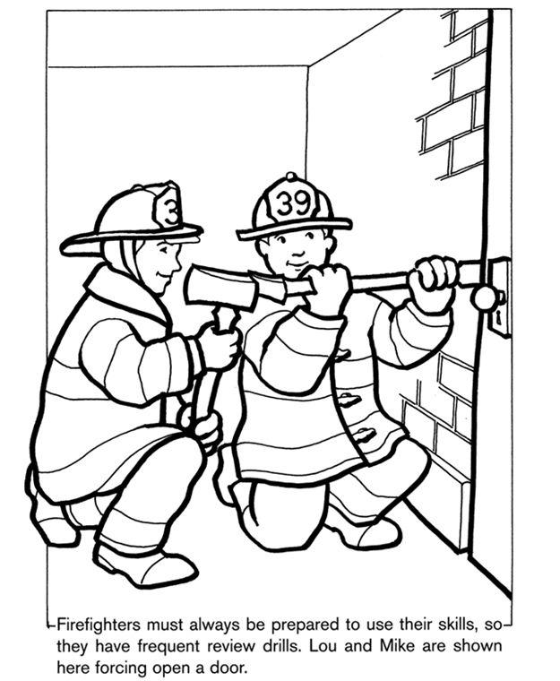 Dover Sampler - Firefighters Coloring Book | Dover Sampler - Free ...