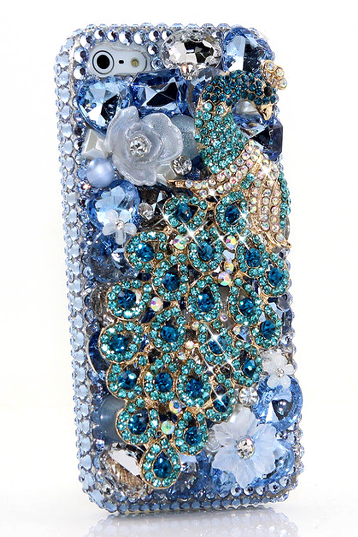 aqua peacock design (style 481) iphone cases iphone cases, phoneaqua peacock case cover design for cute cool protective iphone 5 5s 5c cases bling for