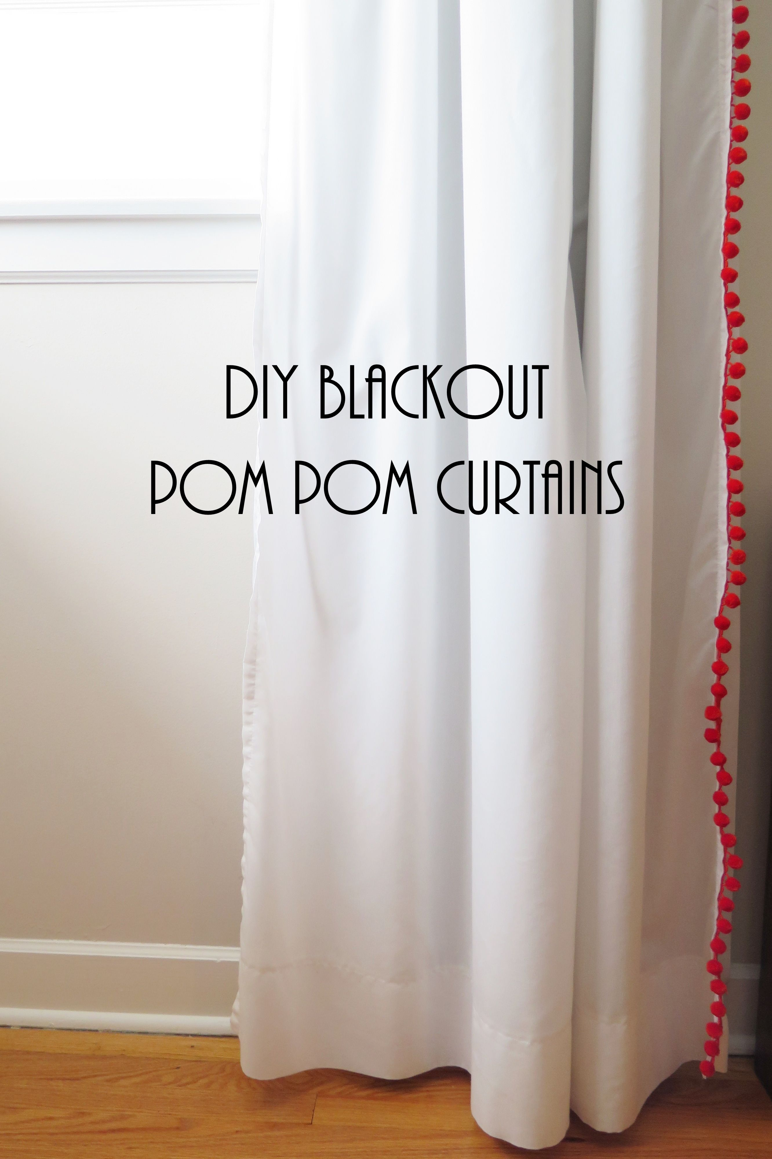 Blackout curtains for bedroom - Bedrooms Diy Blackout Pom Pom Curtains