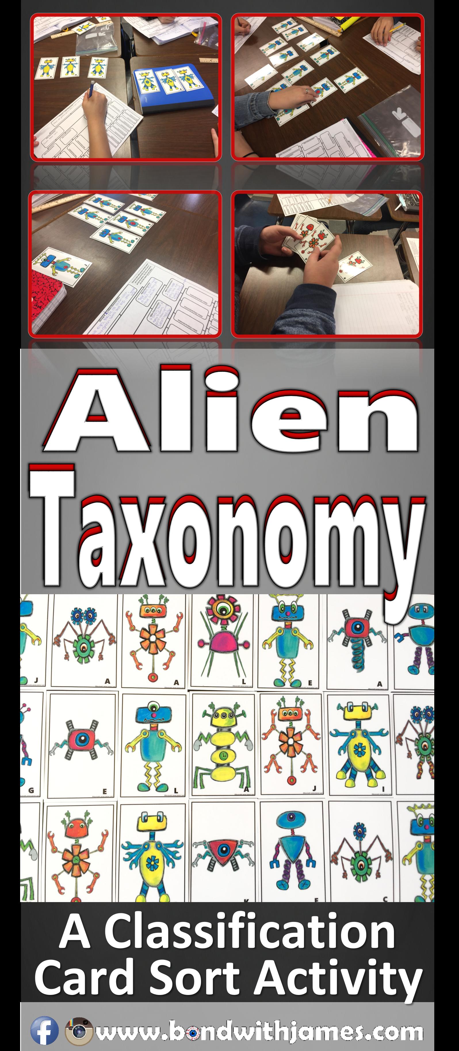 Alien Taxonomy A Classification Card Sort Activity