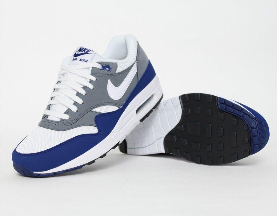 Nike Air Max 1 Gris Bleu Clothing Fashion Pinterest Chaussure
