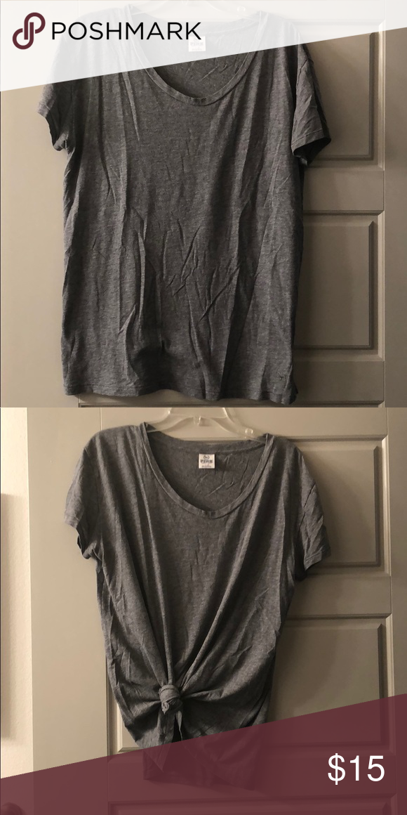 d9526bae8f7f Vs pink gray T-shirt size m Just a plain tee oversized for can be worn tied  up or off the shoulder PINK Victoria s Secret Tops Tees - Short Sleeve