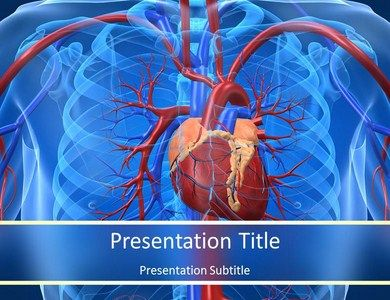 cardiovascular powerpoint template free - download cardiovascular system facts powerpoint template