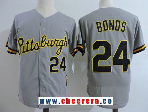 52f6f76b ... order mens pittsburgh pirates 24 barry bonds gray button 1987 throwback  stitched mlb mitchell ness 24