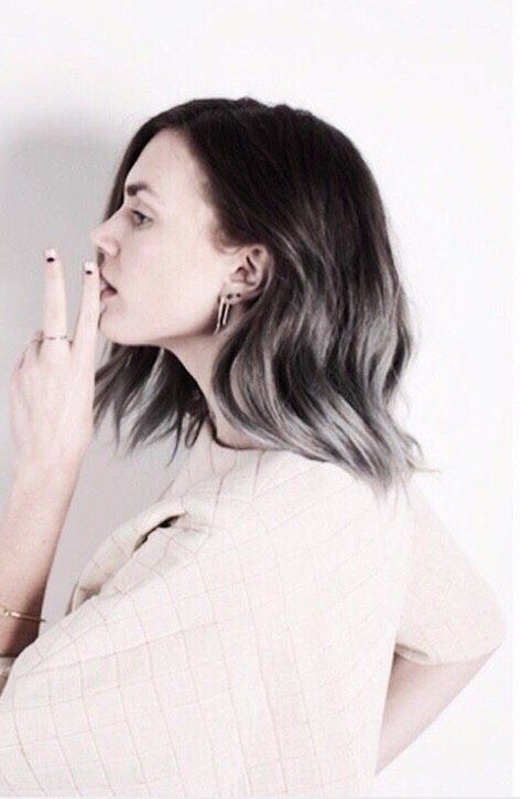 ooh maybe even like this! Silver ombre