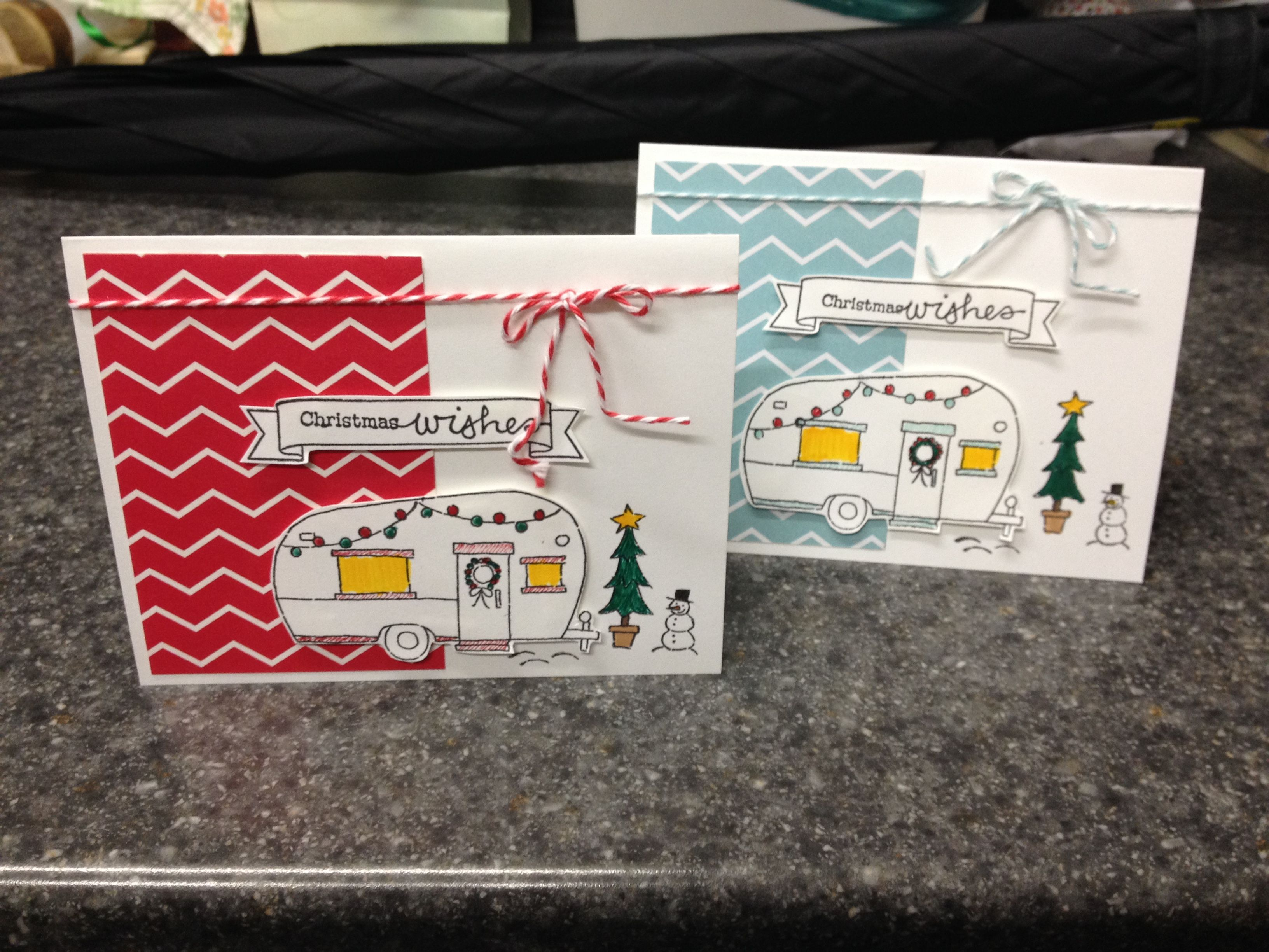 Christmas card, camp trailer...stampin up... | Venessa\'s creations ...