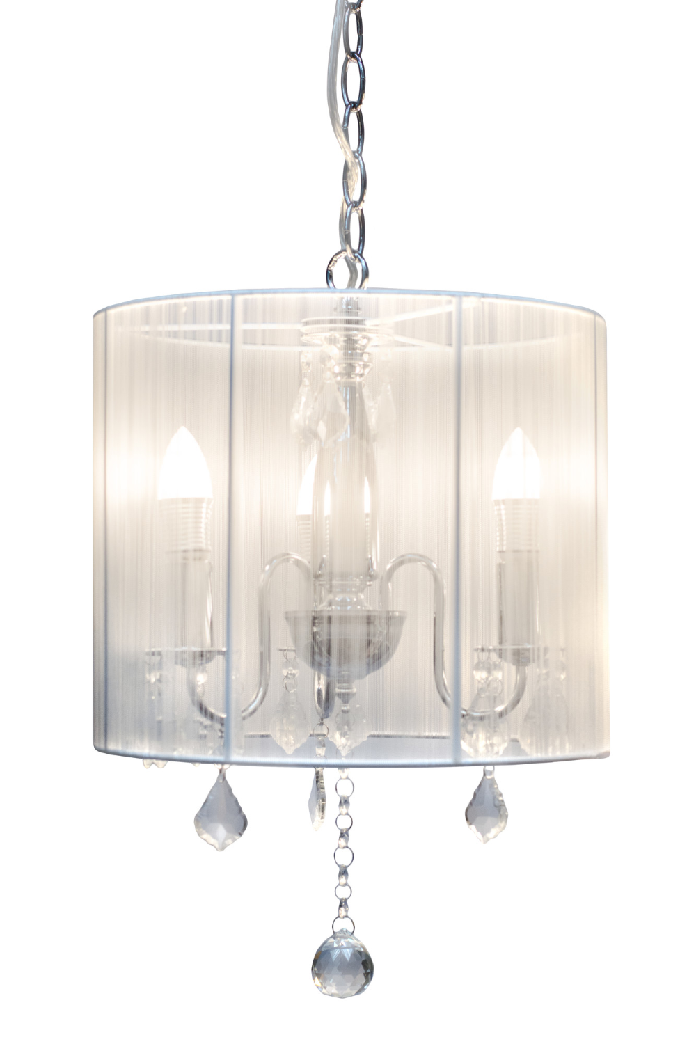 Paris 3 Lights Chandelier White Shade In 2020 White Chandelier