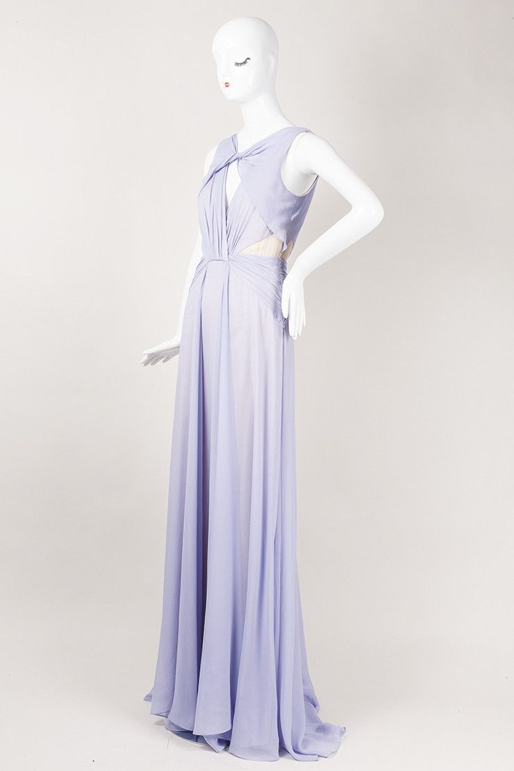 New With Tags Lavender Silk Keyhole Evening Gown | Lavender gowns ...