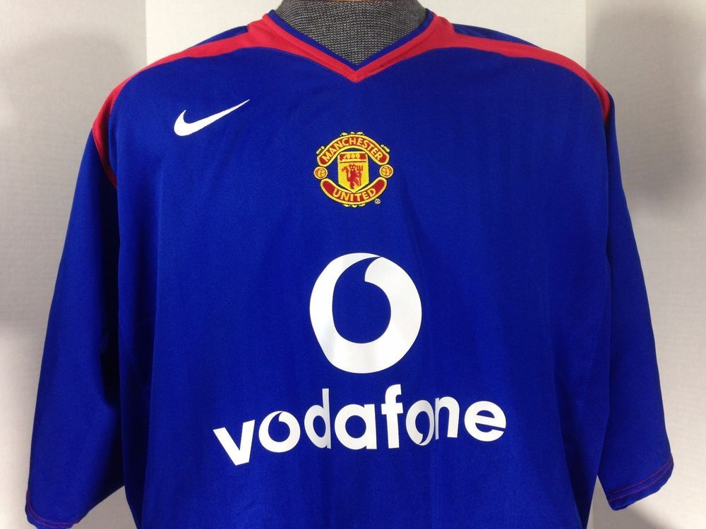 Rare Manchester United 2005/06 NIKE 2XL XXL Away Shirt Jersey 05 Polyester #Nike #ManchesterUnited