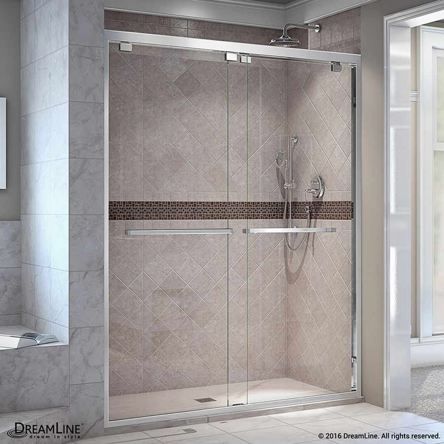 Dreamline encore 56 in to 60 in w frameless chrome sliding shower dreamline encore 56 in to 60 in w frameless chrome sliding shower door eventshaper