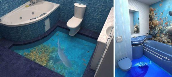 3d Bodenbelag Aus Epoxidharz Innovative Technologie Und Naturmotive Badezimmerboden 3d Bodenbelag Bodengestaltung