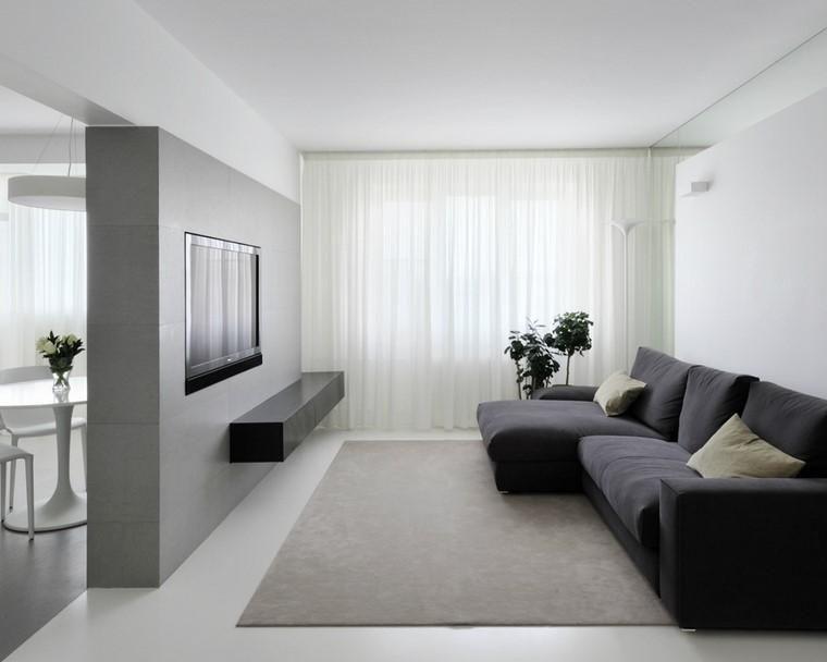 #Interior Design Haus 2018 Minimalistische Inneneinrichtung Mit Steinwänden  #Burgund #Living Room #