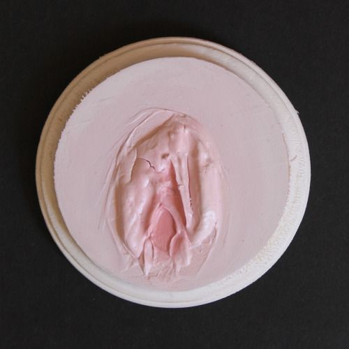 """""""Puss II"""", Shanice Bloodbloom, molding paste and oil on wood, 2015"""