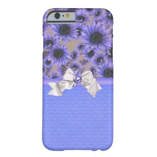 Pretty Purple Sunflowers iPhone 6 Case