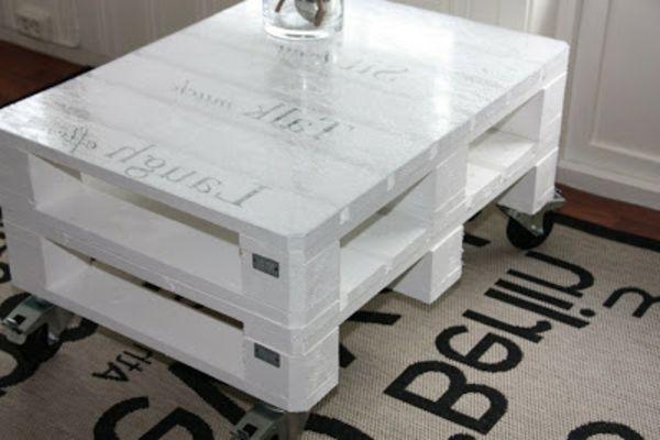 1001 Idees Diy Pour Faire Une Table De Chevet En Palette Et Autres Objets Recup Tables En Palettes De Bois Table Basse Palette Et Table Basse