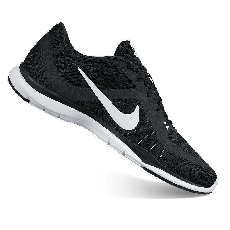 Nike Fitsole Black and White Size 6 Womens Athletic Running Training Shoes