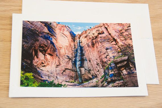 Zion Canyon Wall Blank Note Card with Envelope # ...
