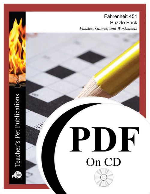 Fahrenheit 451 Puzzle Pack Worksheets Activities Games Pdf On Cd