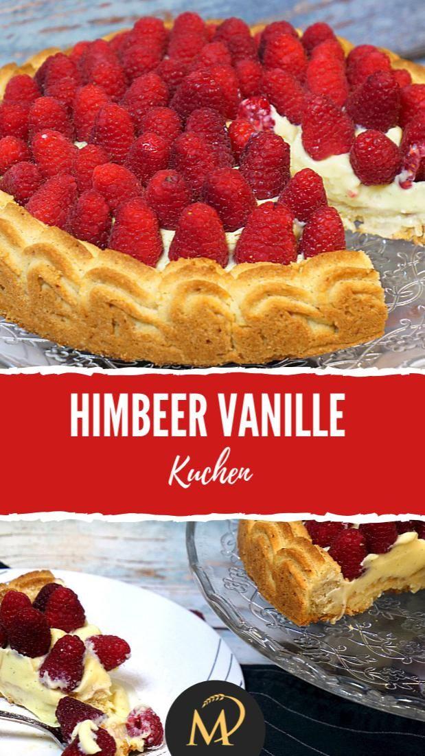 Himbeer Vanillekuchen mit Knusper Boden