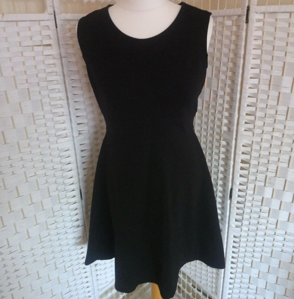 M S Womens Black Sleeveless Stretch Skater Dress Size 12 Office Smart Work F3 Fashion Clothing Shoes Accessories Womensc Womens Skater Dress Dresses Women [ 1000 x 985 Pixel ]