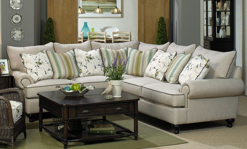 Delightful Paula Deen Home Sectional Sofa With Rolled Arms And Turned Feet By Paula  Deen By Universal   Hudsons Furniture   Sofa Sectional Tampa, St  Petersburg, ...