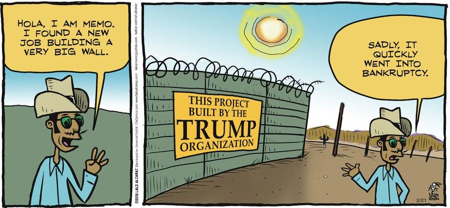 Image result for bianco cartoons on president trump and immigration