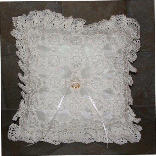 Crochet PatternFloral Crochet Ring Bearer Pillow Crochet rings