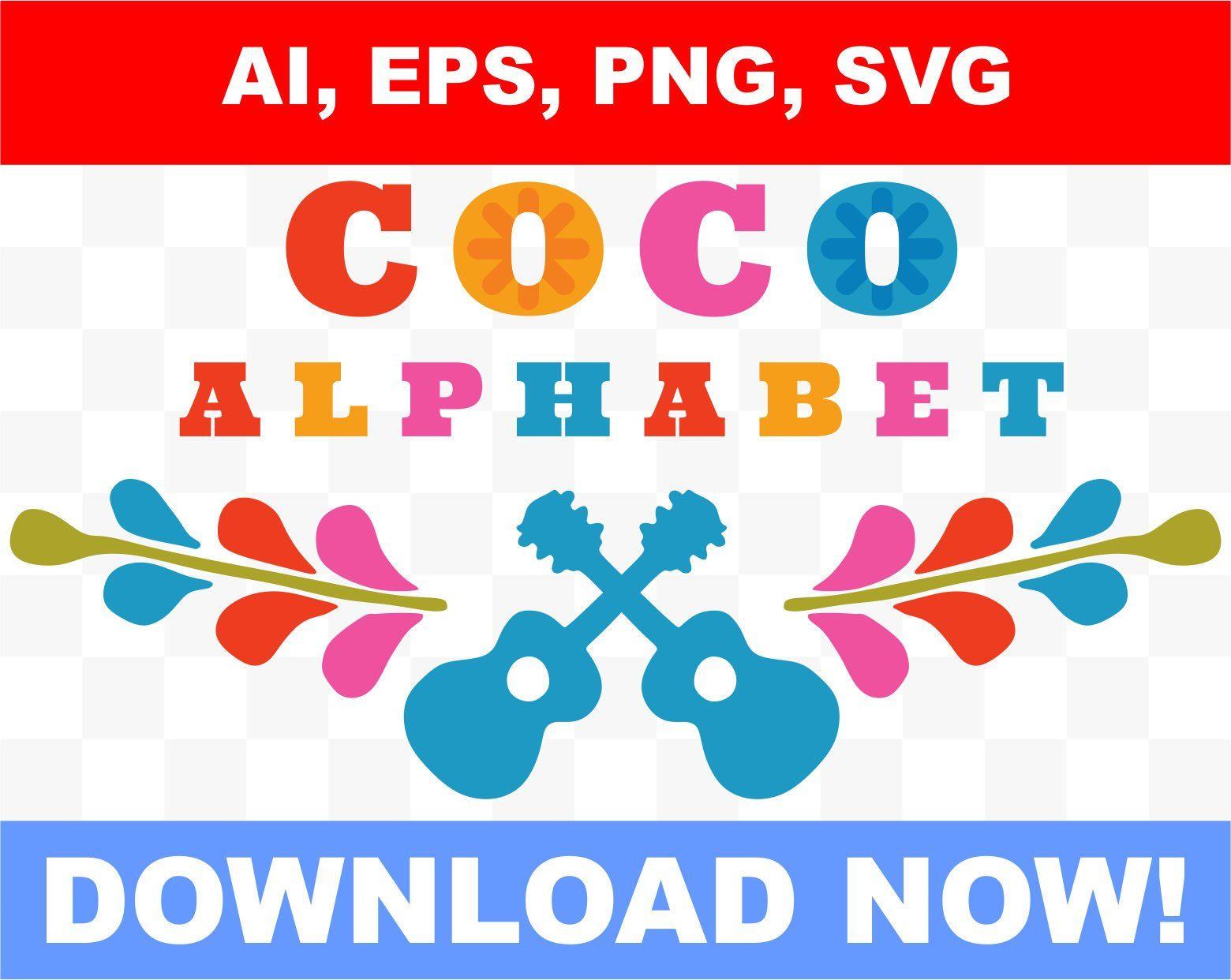 Alfabeto Inspirado en la pelicula Coco de disney, numeros