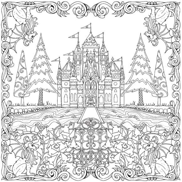 CASTLE LEAVES /Johanna basford to colour in - Google Search ...
