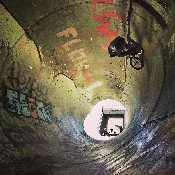 "@gopro's photo: ""GoPro athlete @mikeescamilla goes for a loop.  #GoPro #bmx #BaldyPipe #bike #concretejungle #POD"""