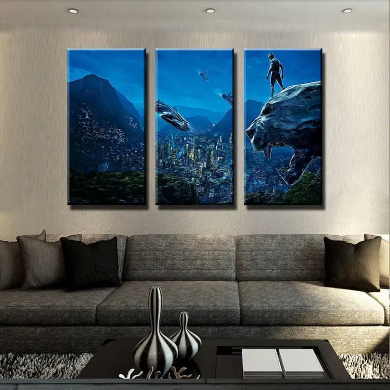 Panther Scenic Night Movie Canvas Wall Art Home Decor In 2020 Wall Art Canvas Painting Wall Art Painting Canvas Wall Art
