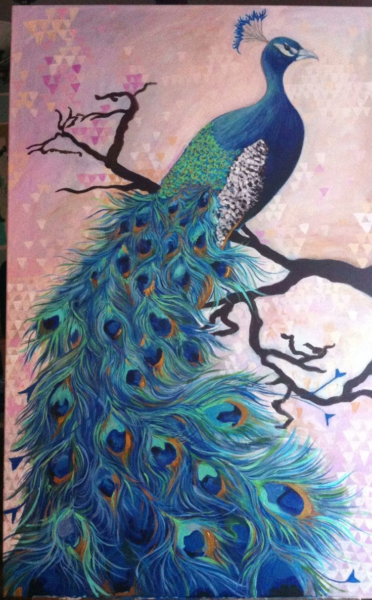 Image result for acrylic peacock paintings | Amazing Birds ...