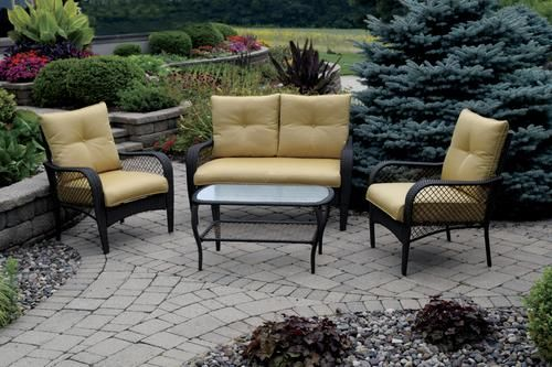 Backyard Creations Maple Grove 4 Piece Seating Patio Set At Menards Backyard Creations Patio Furniture Collection Backyard Creations Outdoor Furniture Sets