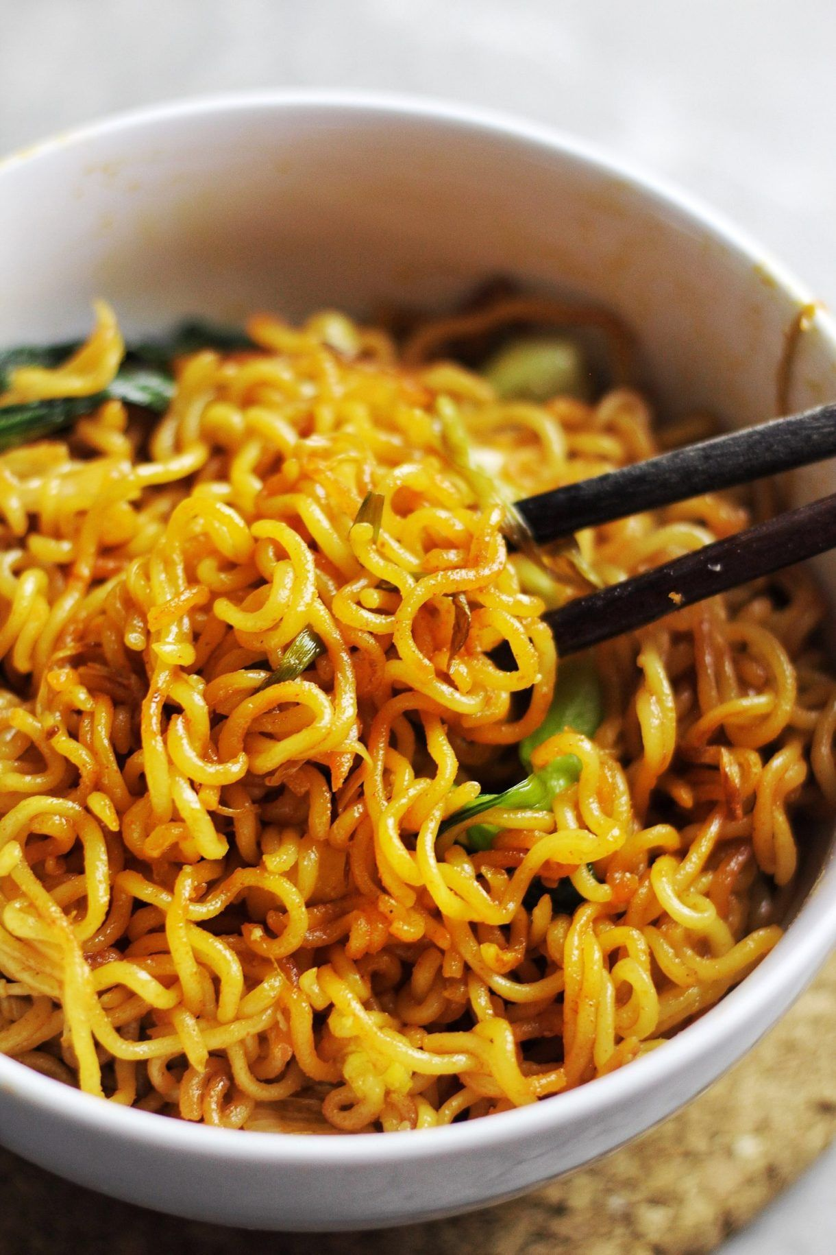 Instant Ramen Upgrade Easy 30 Minute Spicy Fried Noodles Couple Eats Food Recipe Spicy Ramen Instant Ramen Top Ramen Recipes