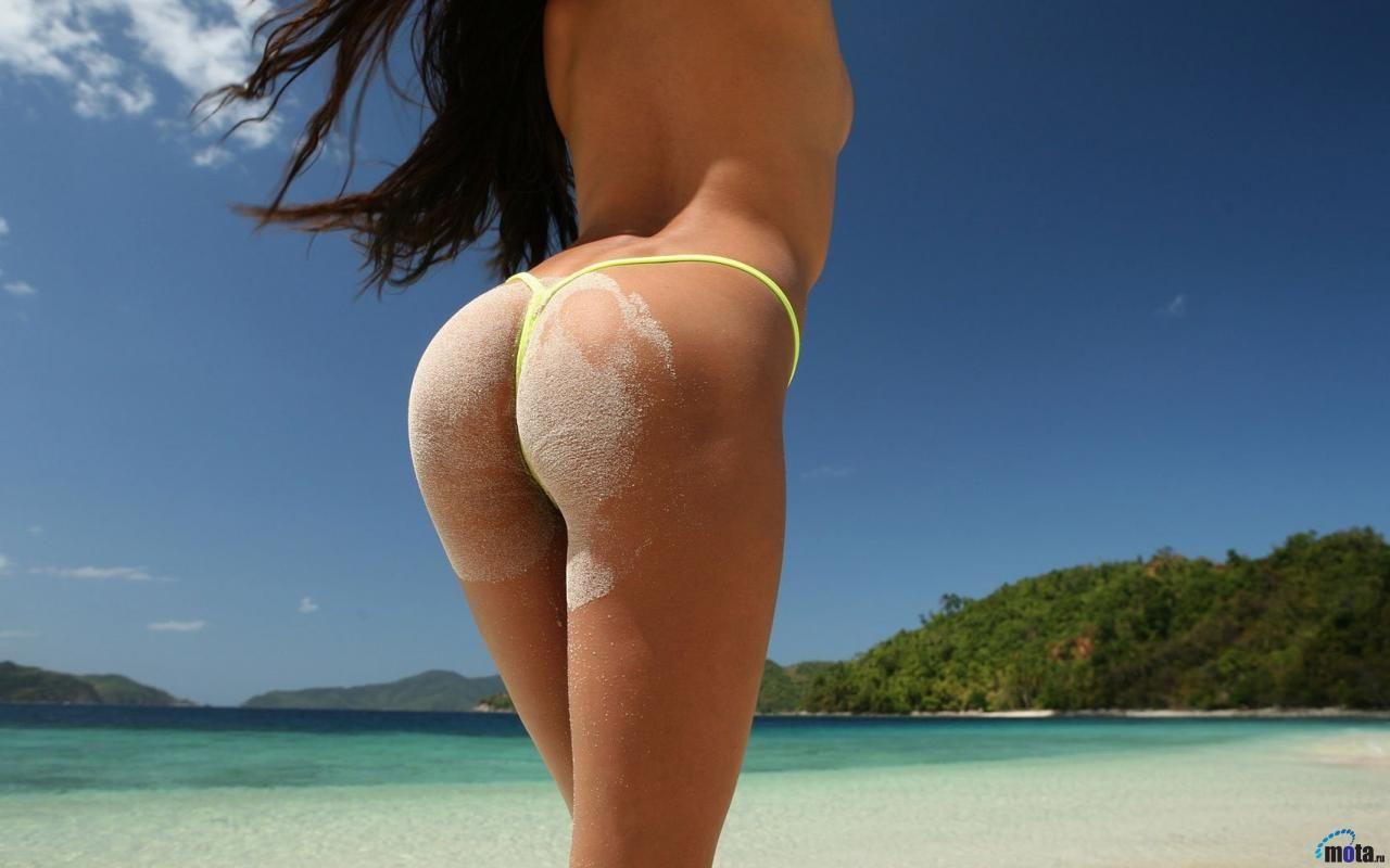 Порно Попа Пляж