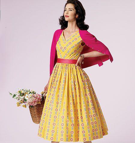 V8789 VOGUE Vintage Schnittmuster Kleid 50er Jahre | Schnittmuster ...