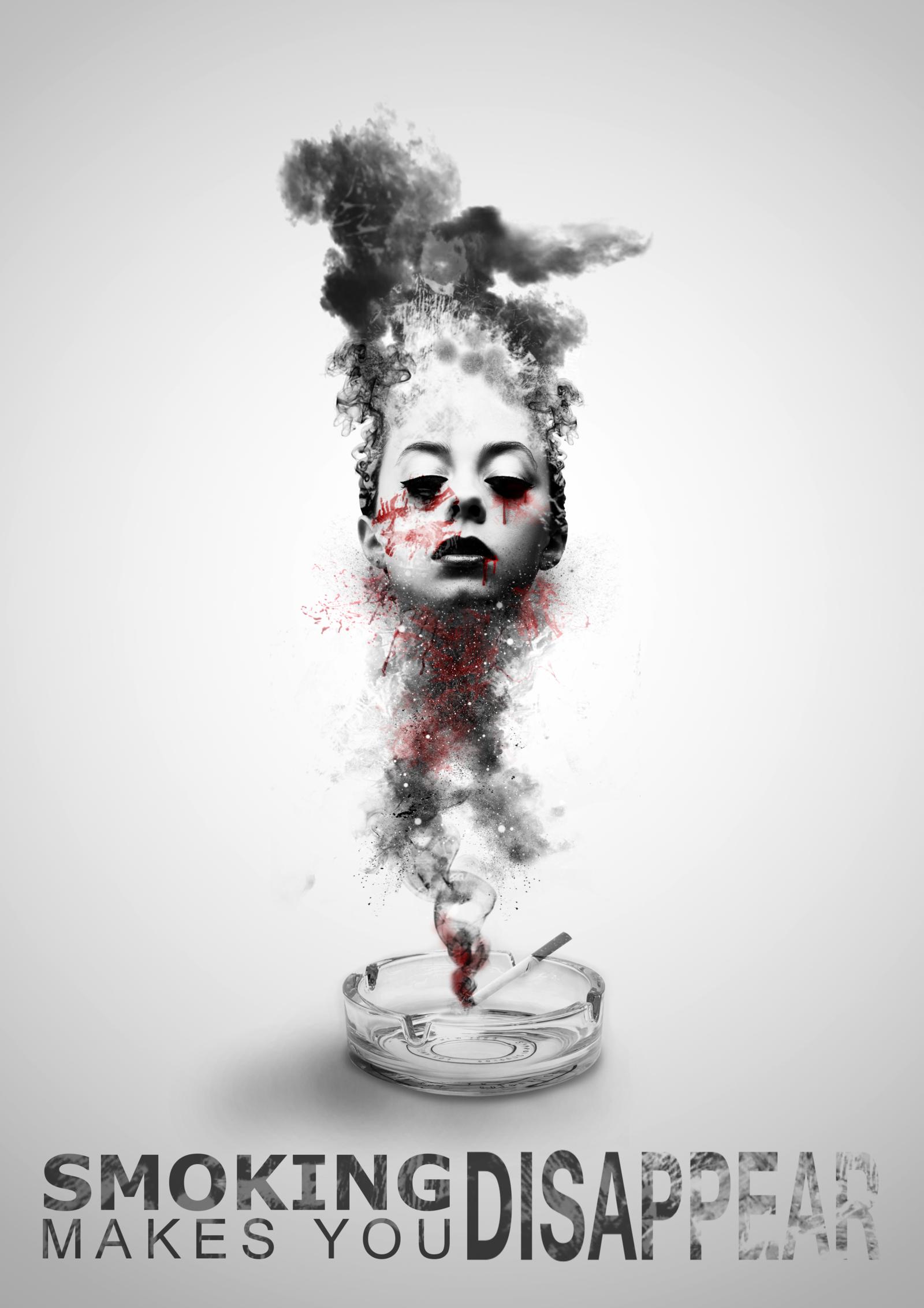Poster design deviantart - Anti Smoking Campaign Poster Design By Baryza Deviantart Com On Deviantart