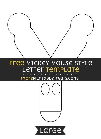 Free mickey mouse style letter y template large shapes and free mickey mouse style letter y template large maxwellsz