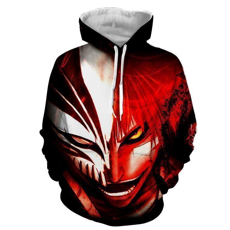 Bleach Hollow Ichigo Hoodie - Hollow Mask 3D Graphic Bleach Hoodie - 3XL