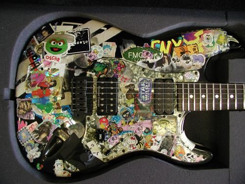 One of rivers cuomos guitars cool stickers